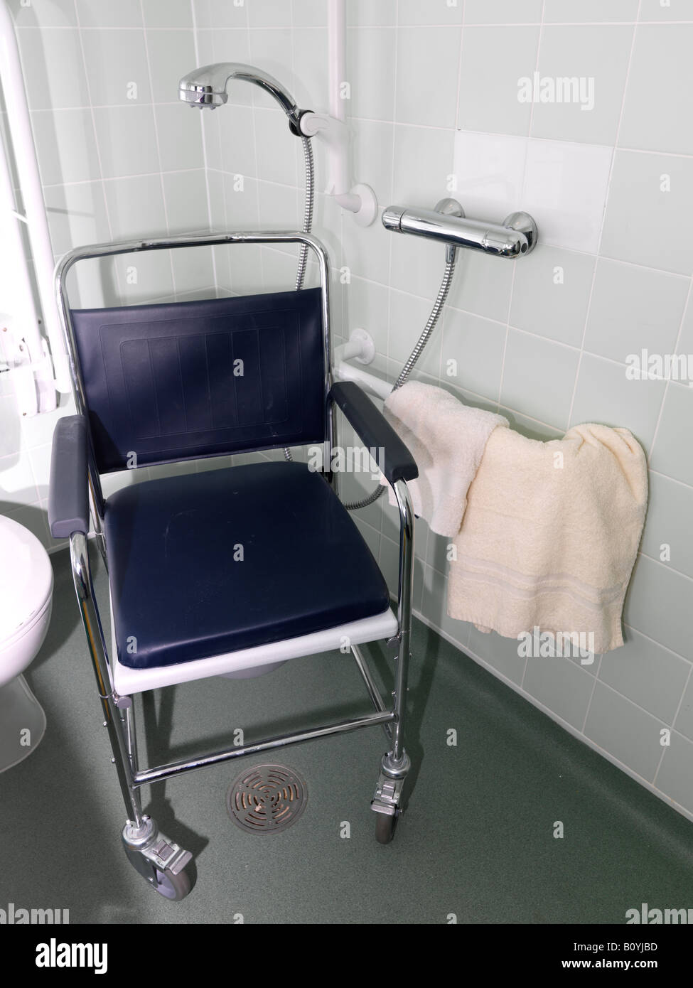 Shower Chair for Disabled Person Stock Photo, Royalty Free Image ...