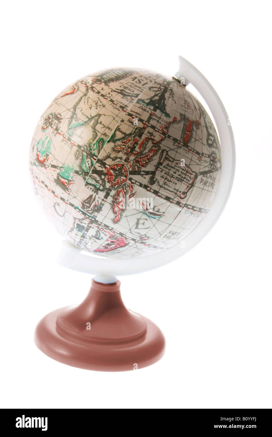 Antique Desk Globe - Antique Desk Globe Stock Photo, Royalty Free Image: 17824678 - Alamy