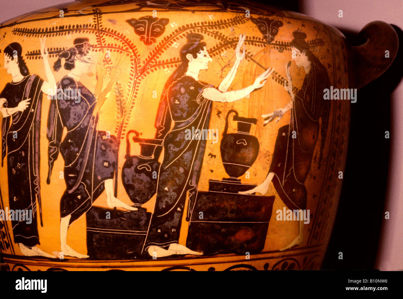 Ancient Greek Pottery Women Coloring Coloring Pages