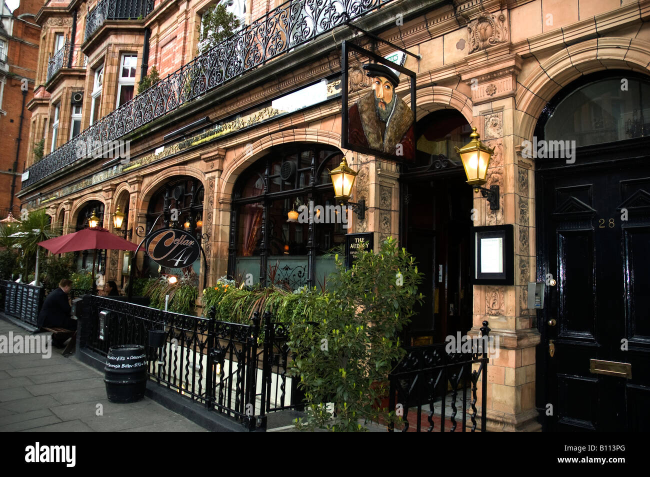 The audley pub restaurant mayfair london uk stock photo for The mayfair