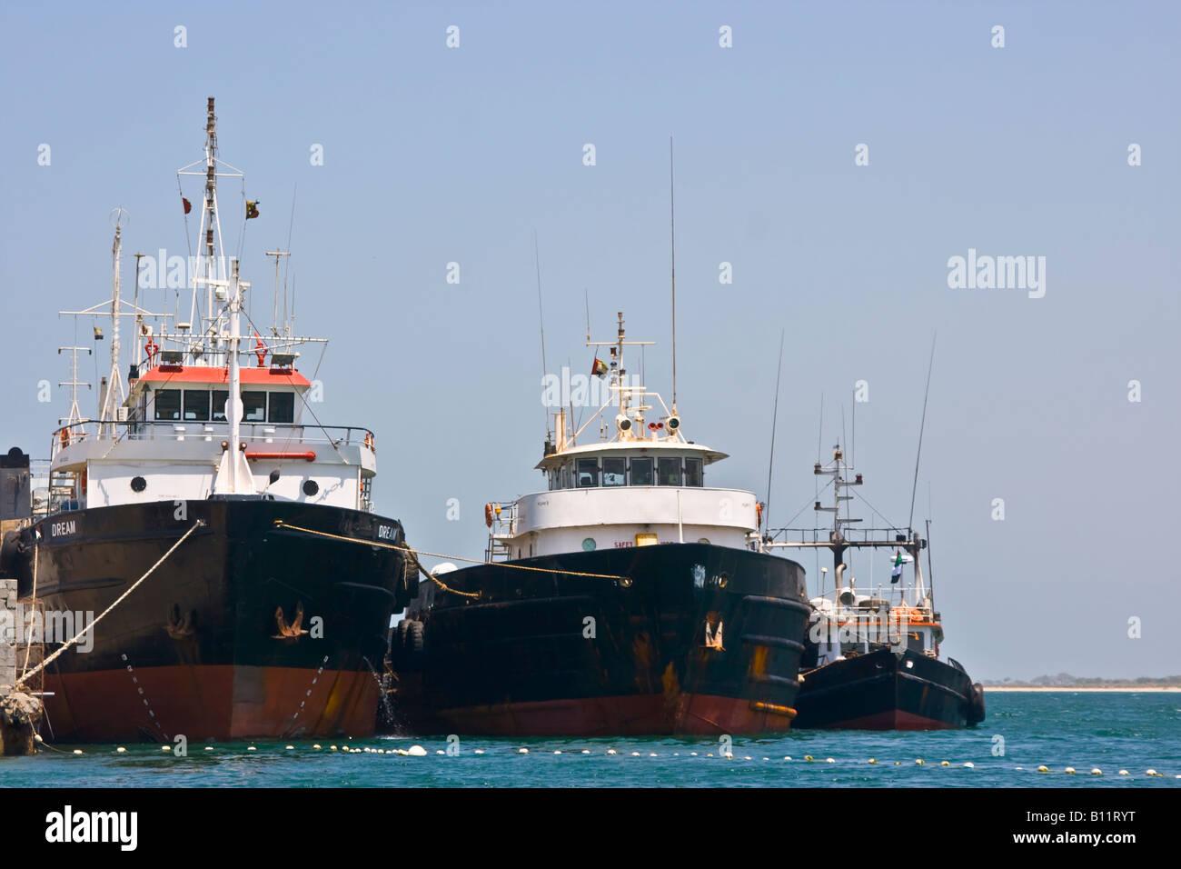 Fish aquarium in umm al quwain - Ships Old Port Umm Al Quwain United Arab Emirates Stock Image