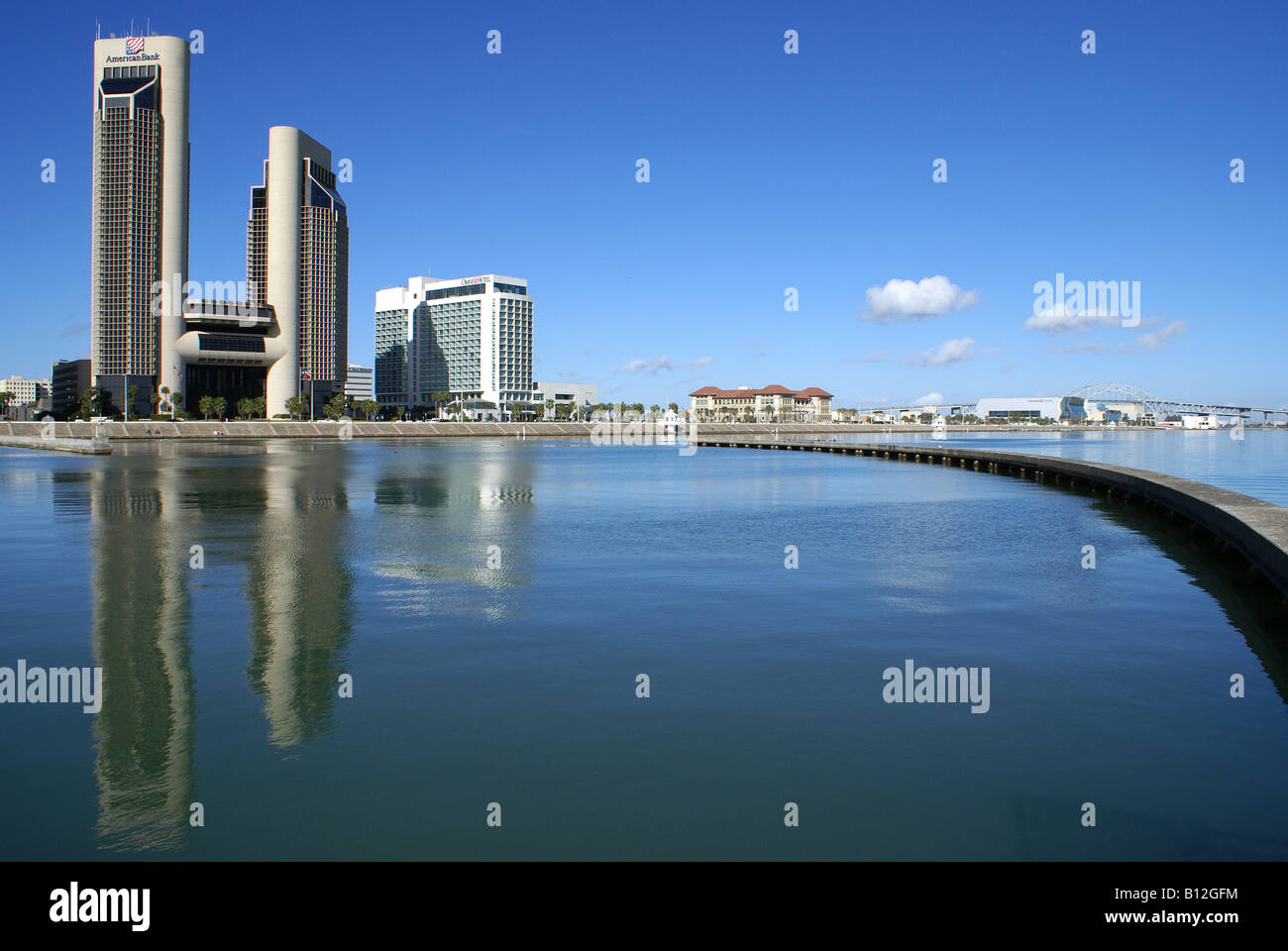 Corpus Christi Texas Water In Front Of City Skyline Stock Photo Royalty Free Image 17881912