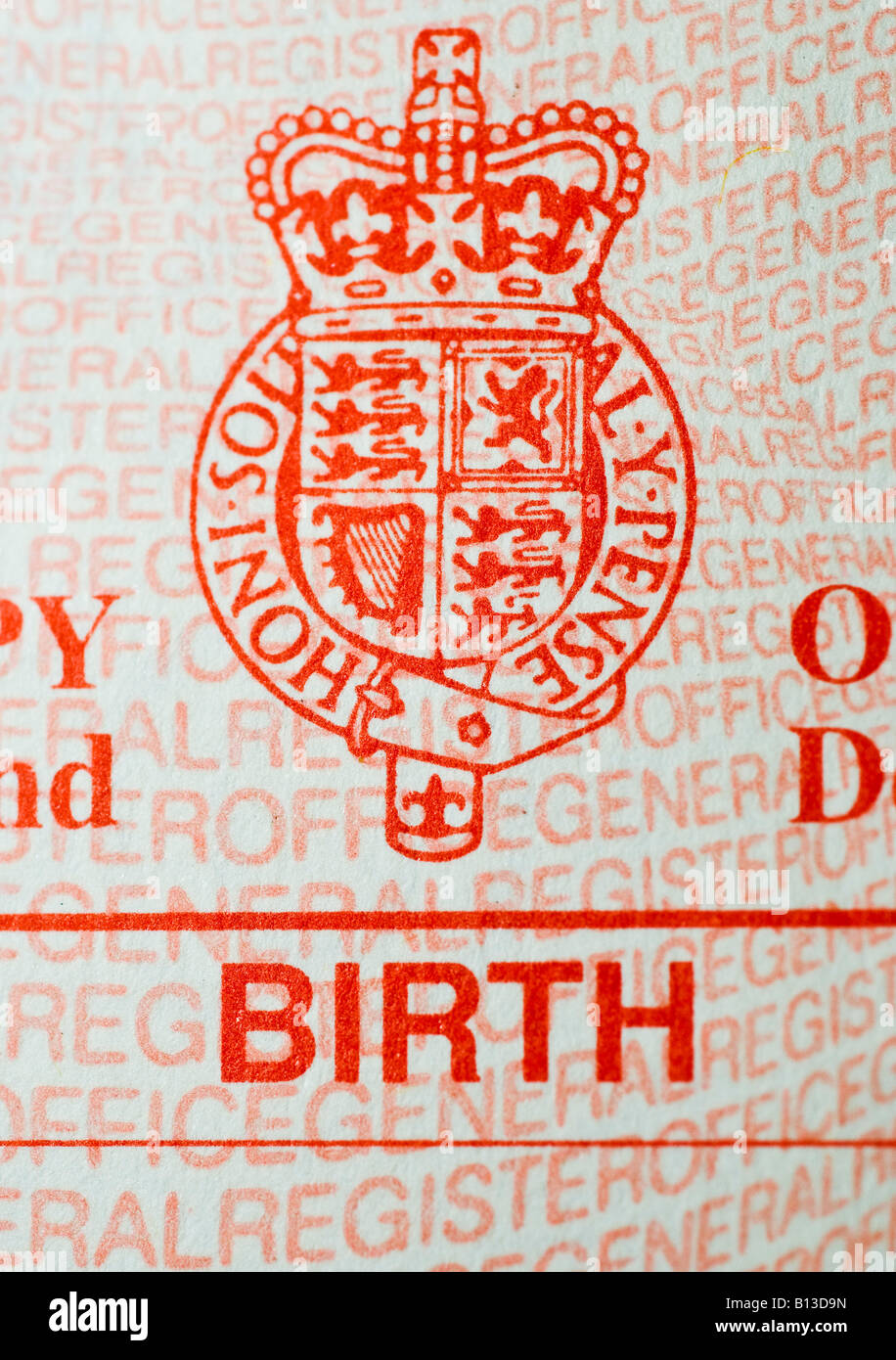 Birth certificate uk stock photos birth certificate uk stock uk birth certificate stock image aiddatafo Gallery
