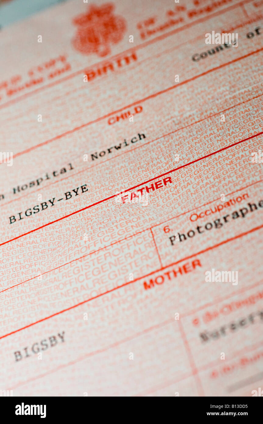 Uk birth certificate stock photo royalty free image 17901441 alamy uk birth certificate aiddatafo Gallery