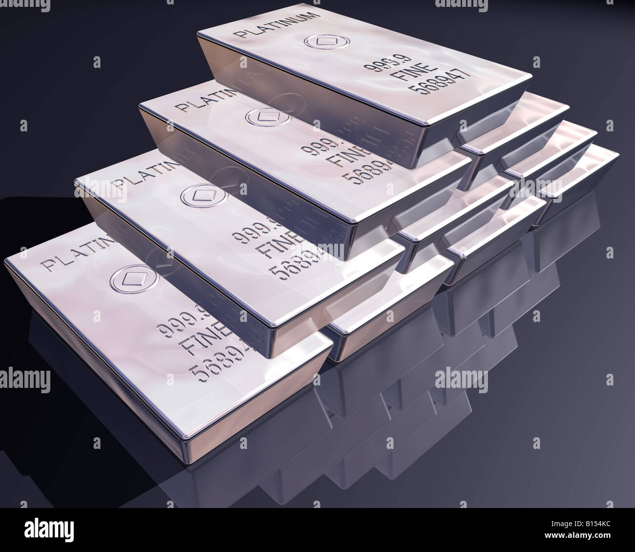 stack-of-pure-platinum-bars-on-a-reflect