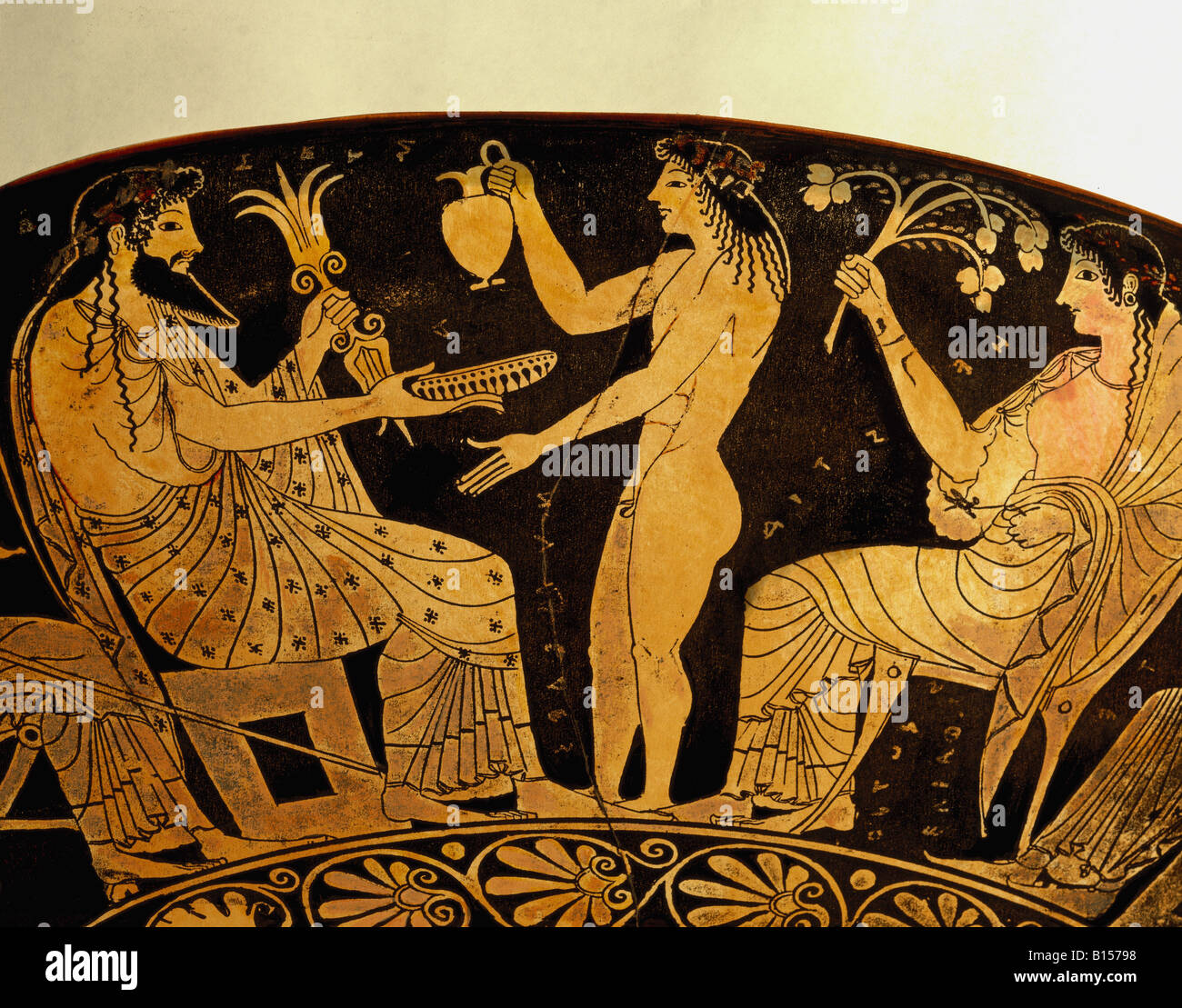 Fine arts ancient world greece vase painting gods zeus and fine arts ancient world greece vase painting gods zeus and hestia with ganymed as cupbearer red figured style drinking cup reviewsmspy