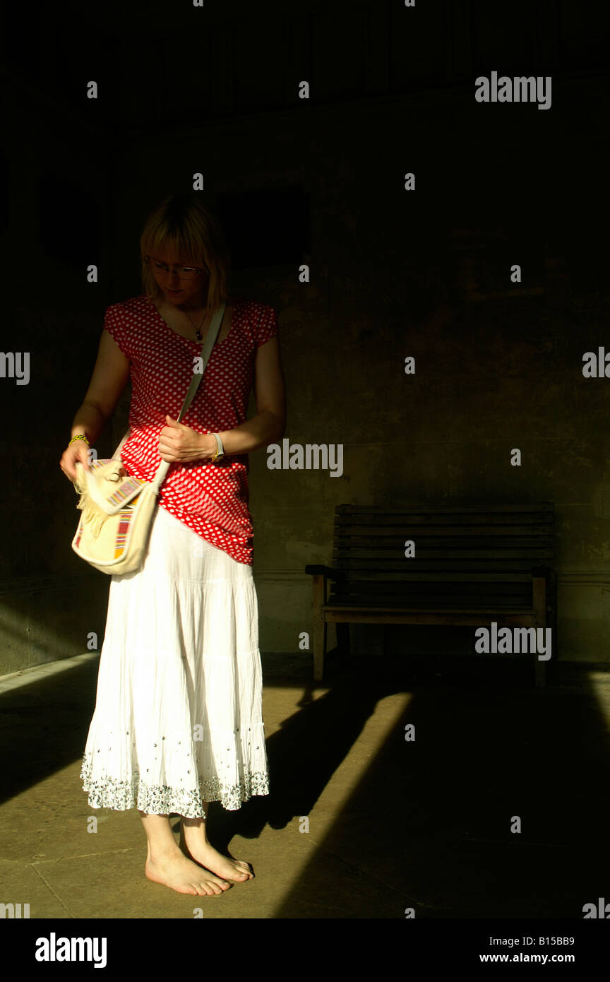 constance hermes wallet - Blonde Bare Feet Young Woman Teen Girl Standing In Dark Tomb ...
