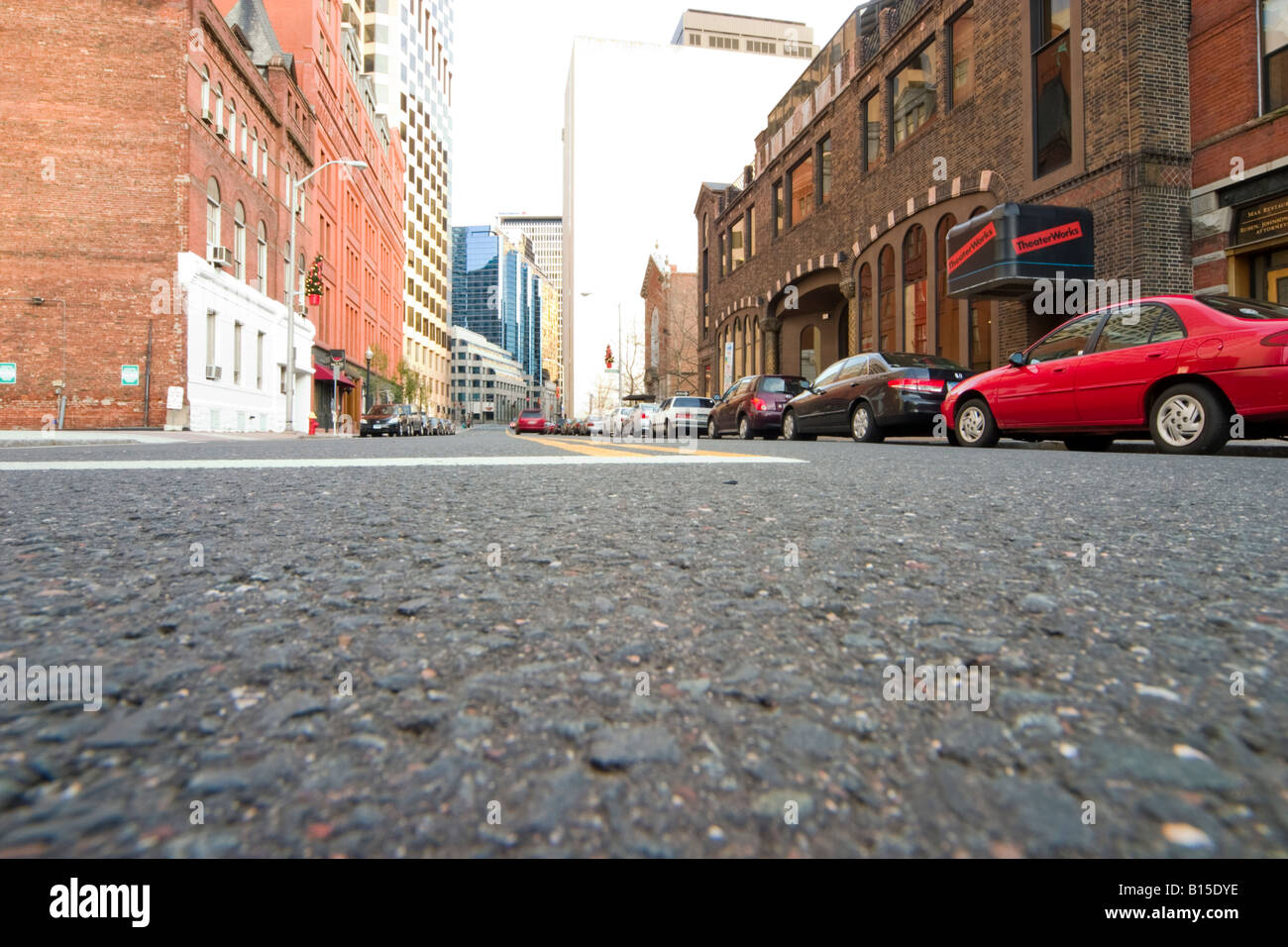 Low angle shot of a city street Stock Photo, Royalty Free ...