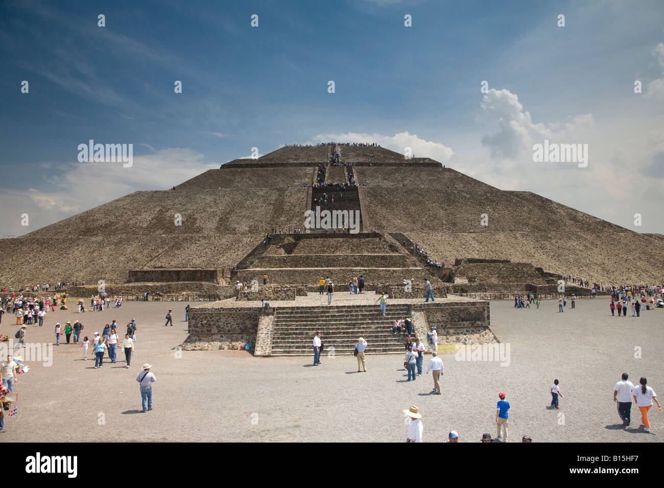 aztec temples at teotichuacan outside mexico city stock