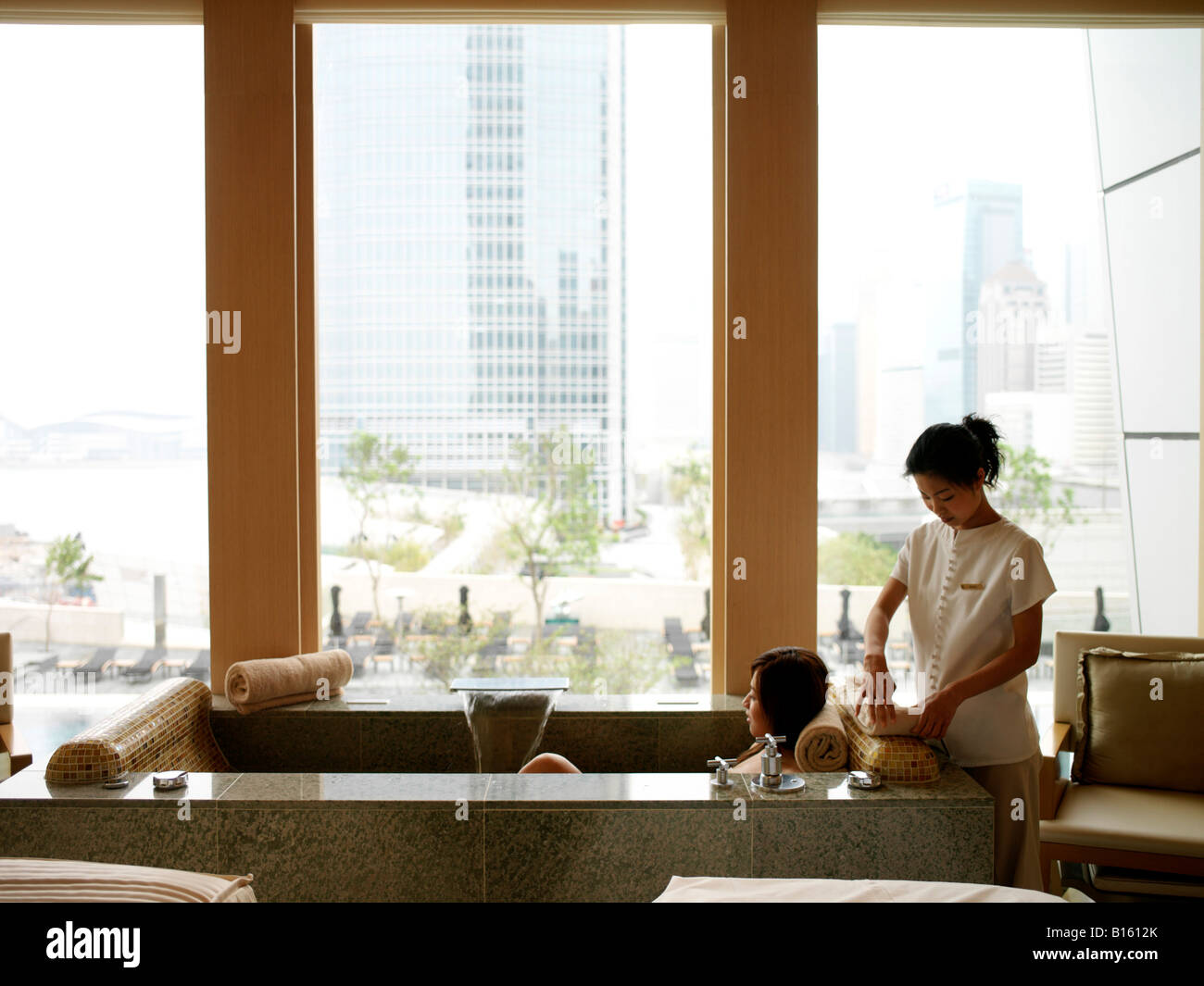 Woman Getting Pampered At The Four Seasons Spa In Hong Kong Stock Photo Royalty Free Image