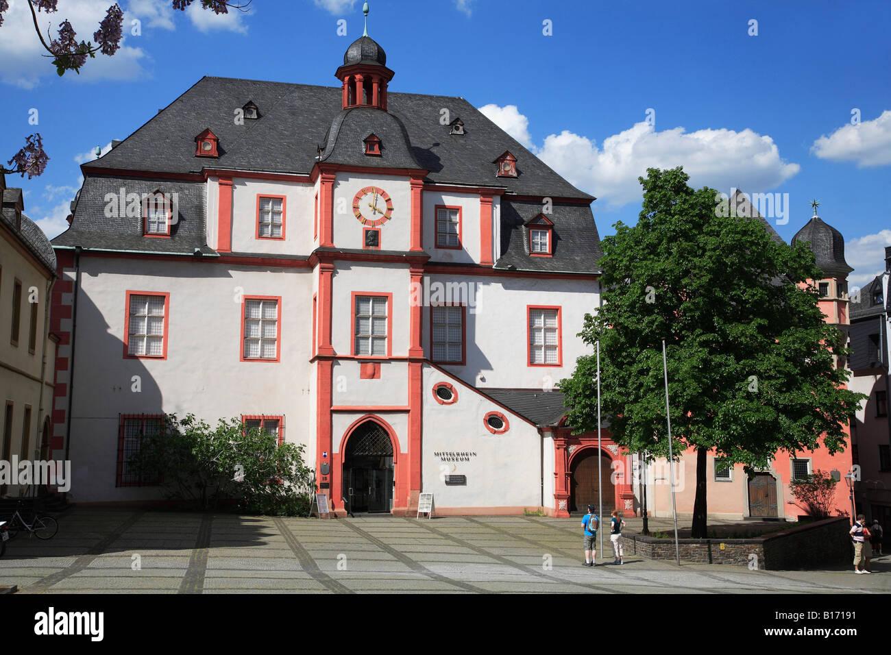 Germany Rhineland Palatinate Koblenz Florinsmarkt Mittelrhein Museum Stock Photo, Royalty Free