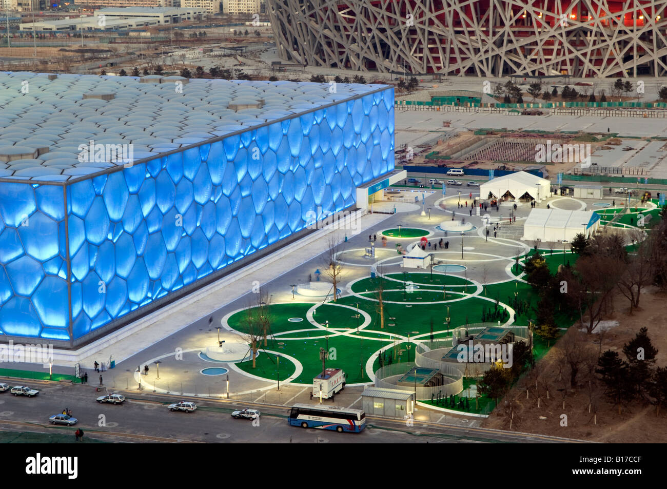 The Water Cube National Aquatics Center Swimming Arena And National Stock Photo Royalty Free