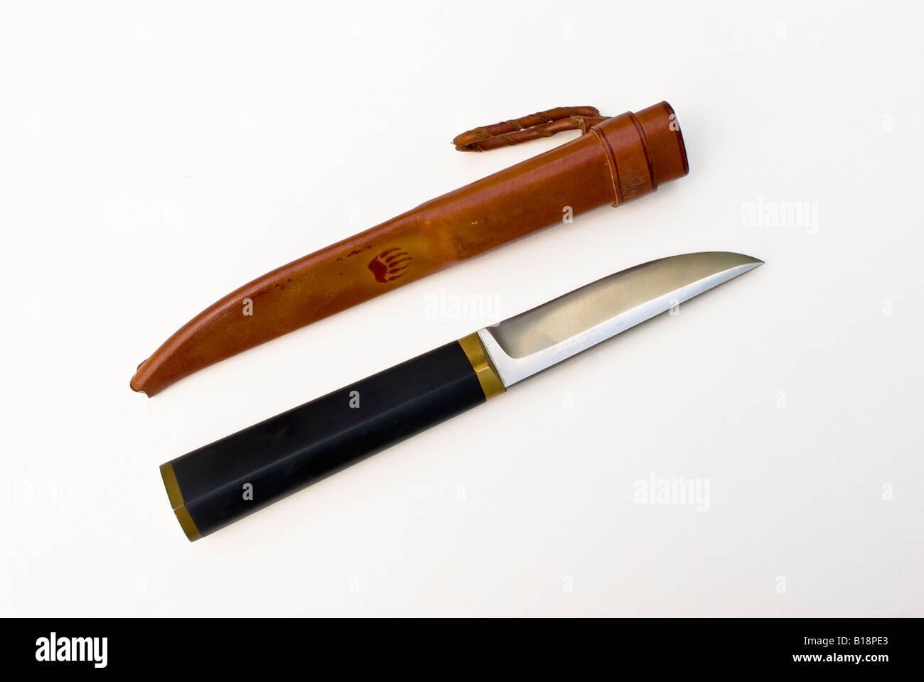 sharp hunting knife. sharp steel hunting knife by hackman from finland with a leather sheath l