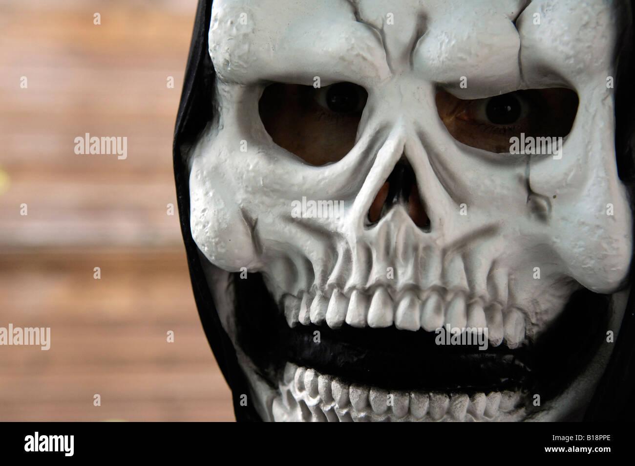 skeleton mask halloween horror spooky grim reaper death rubber ...