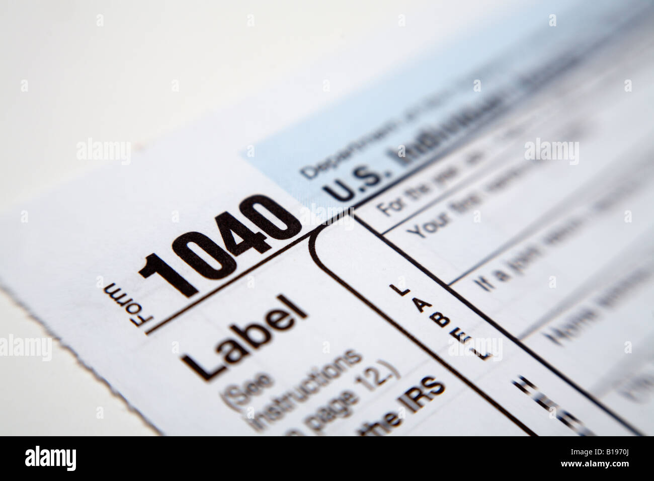 Us federal 1040 income tax form close up stock photo royalty free us federal 1040 income tax form close up falaconquin