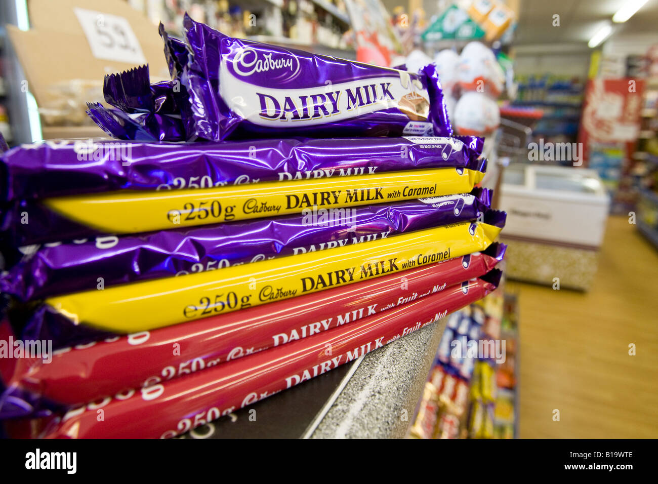 Cadbury Chocolate Bars Stock Photos & Cadbury Chocolate Bars Stock ...