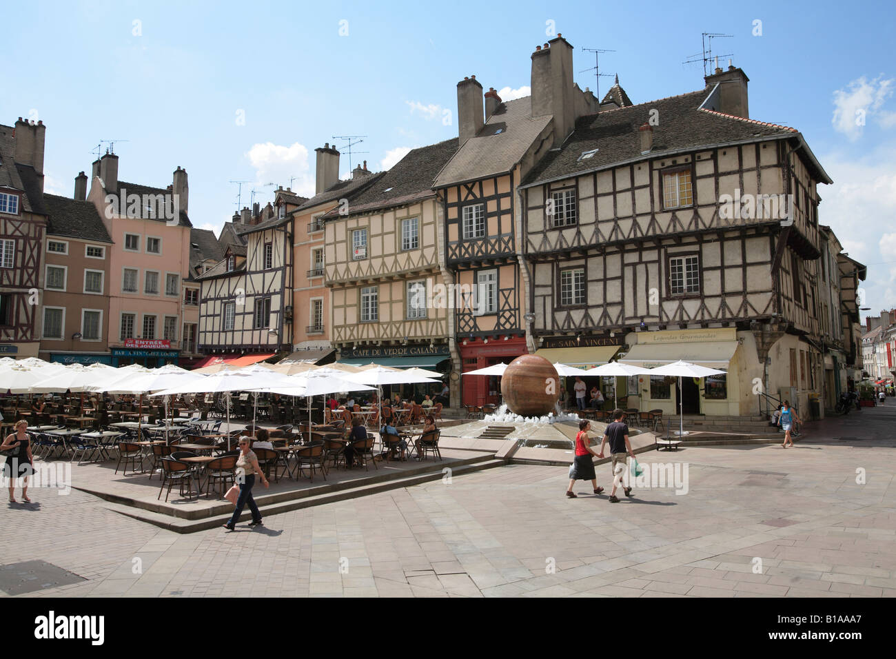 town square in the historic medieval french town of chalon sur saone stock photo royalty free. Black Bedroom Furniture Sets. Home Design Ideas