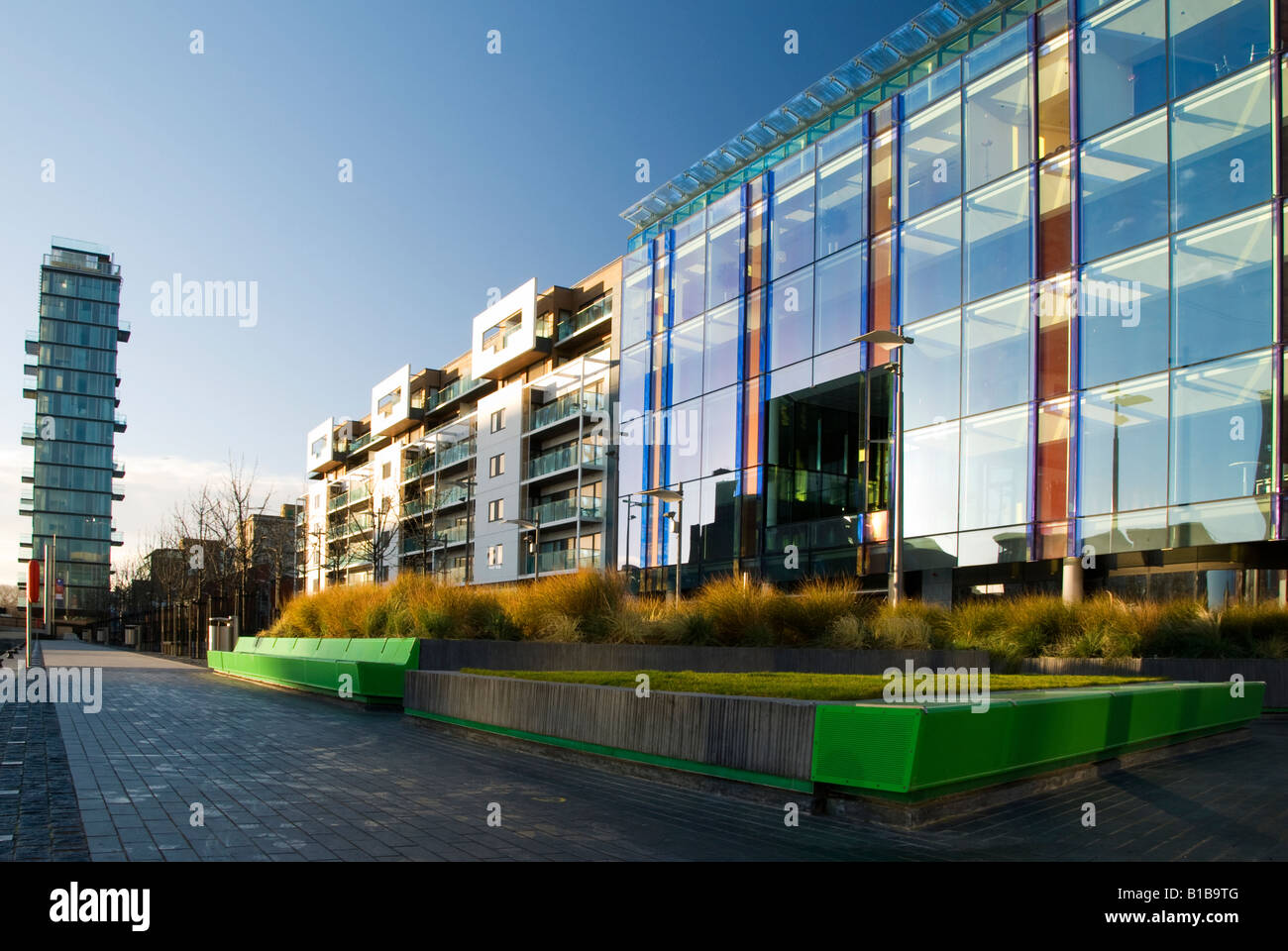 Modern Architecture Dublin modern architecture at dublin s georges quay area stock photo