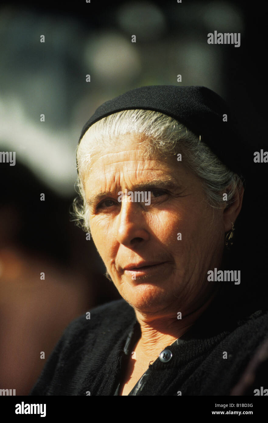 Portrait of Woman of Barcelos in Minho on the Northern Atlantic Coast of Portugal Stock Photo - portrait-of-woman-of-barcelos-in-minho-on-the-northern-atlantic-coast-B1BD3G