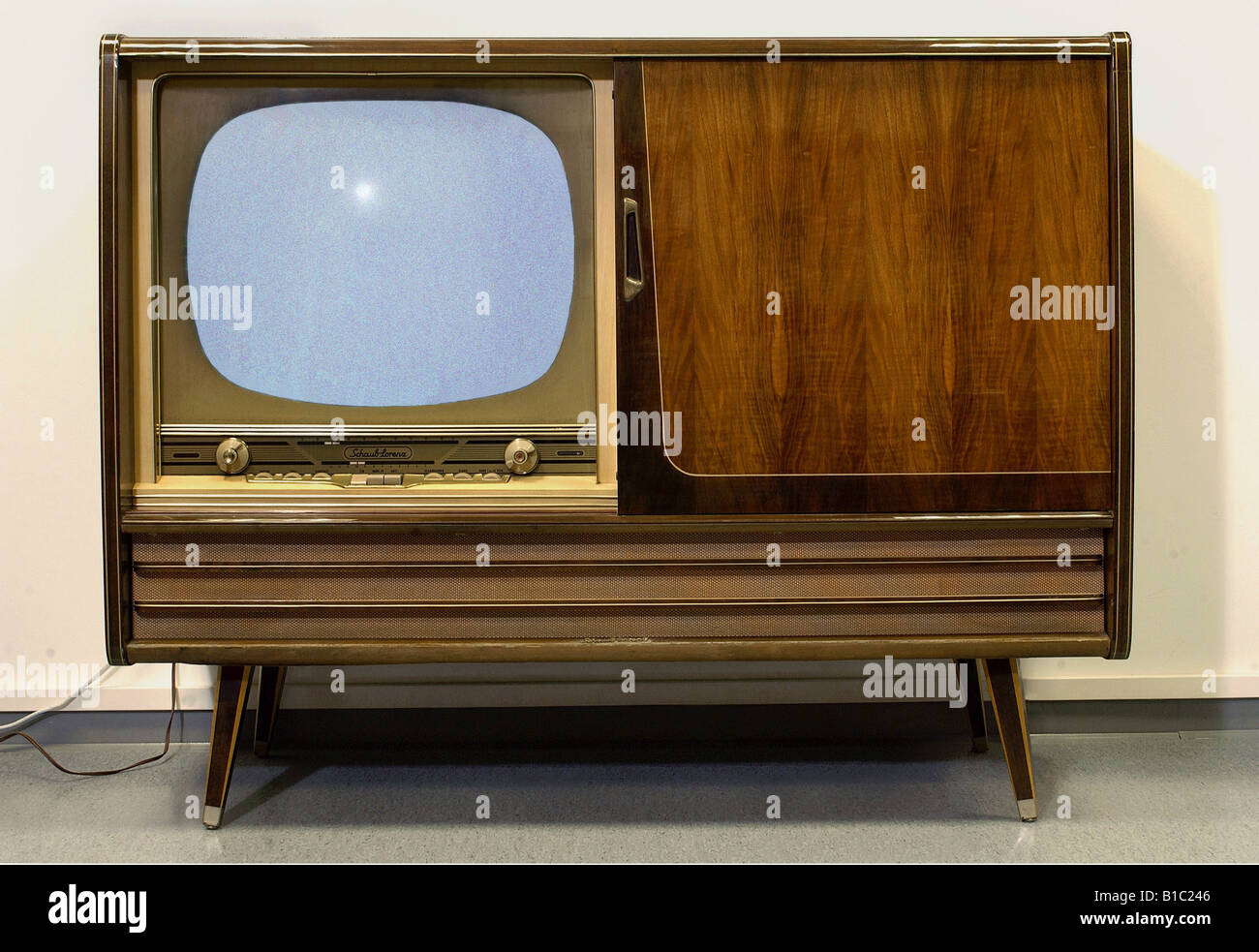 broadcast television tv set models model schaub lorenz triology stock photo 18090134 alamy. Black Bedroom Furniture Sets. Home Design Ideas