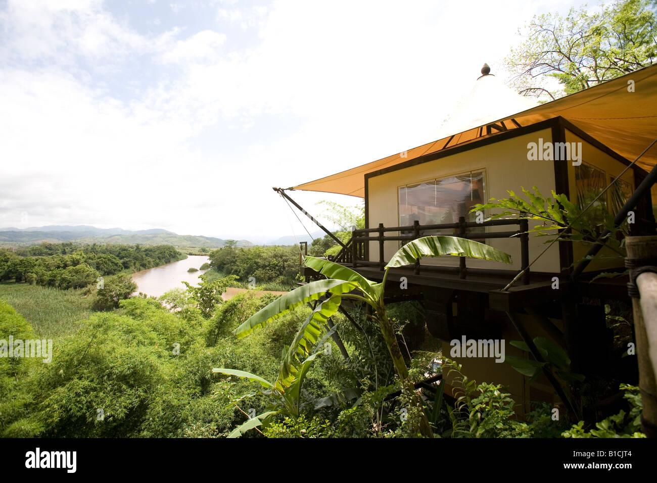 Four Seasons Tent C& Golden Triangle Chiang Rai Thailand & Four Seasons Tent Camp Golden Triangle Chiang Rai Thailand Stock ...
