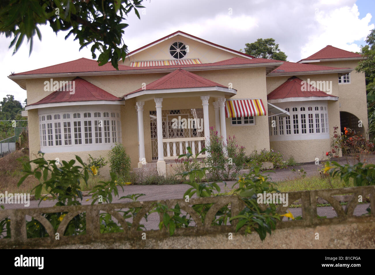 Beautiful House In Mandeville Jamaica W I Stock Photo