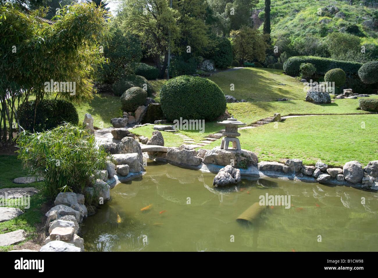 Israel Jezreel Valley Kibbutz Heftziba Japanese Garden Built By The Stock Photo Royalty Free