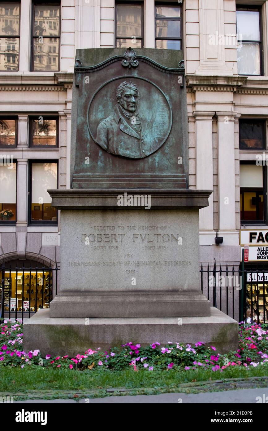 Worksheet Steamboat Inventor Robert Fulton monument to steam boat inventor robert fulton in trinity church grounds wall street new york