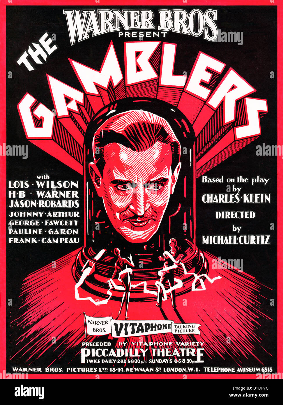 the gamblers poster for the lost 1929 silent movie