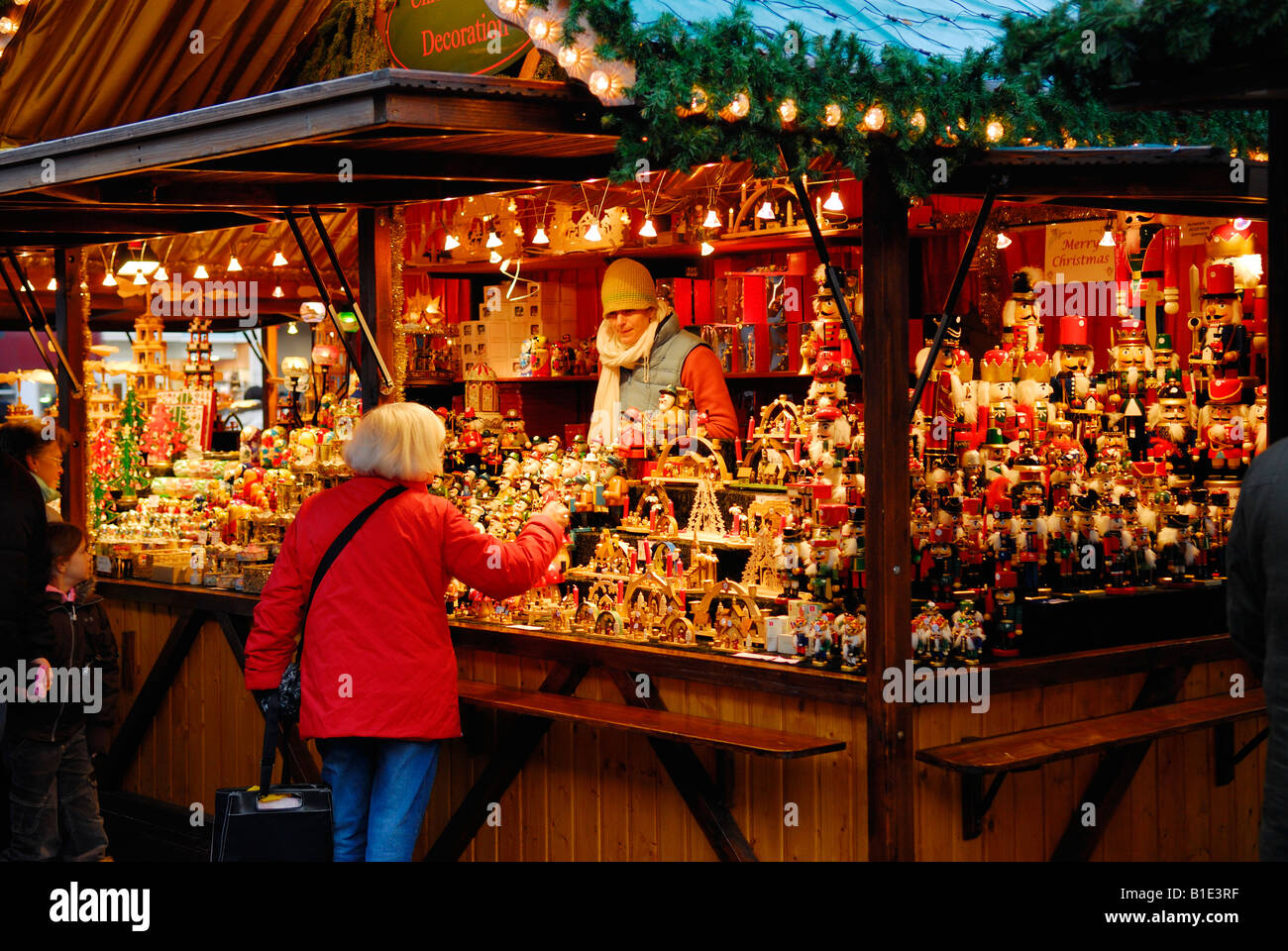 German Christmas Market on The Mound Edinburgh Scotland Stock ...