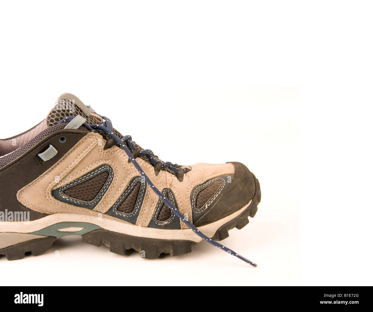 Clothes Hiking Boots Or Shoes Isolated On A Withe Background Made ...
