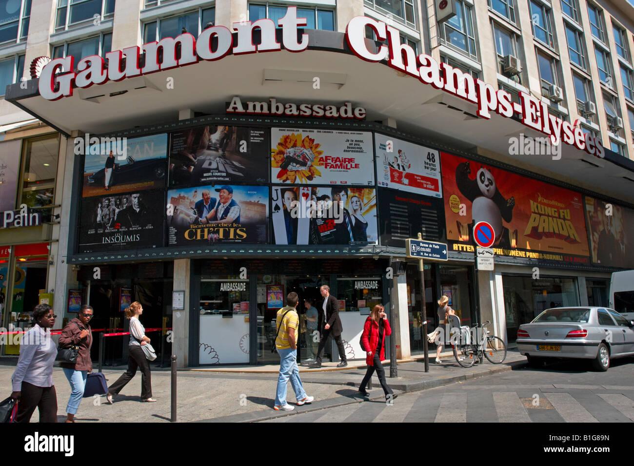 gaumont cinema champs elysees paris france stock photo royalty free image 18182801 alamy. Black Bedroom Furniture Sets. Home Design Ideas