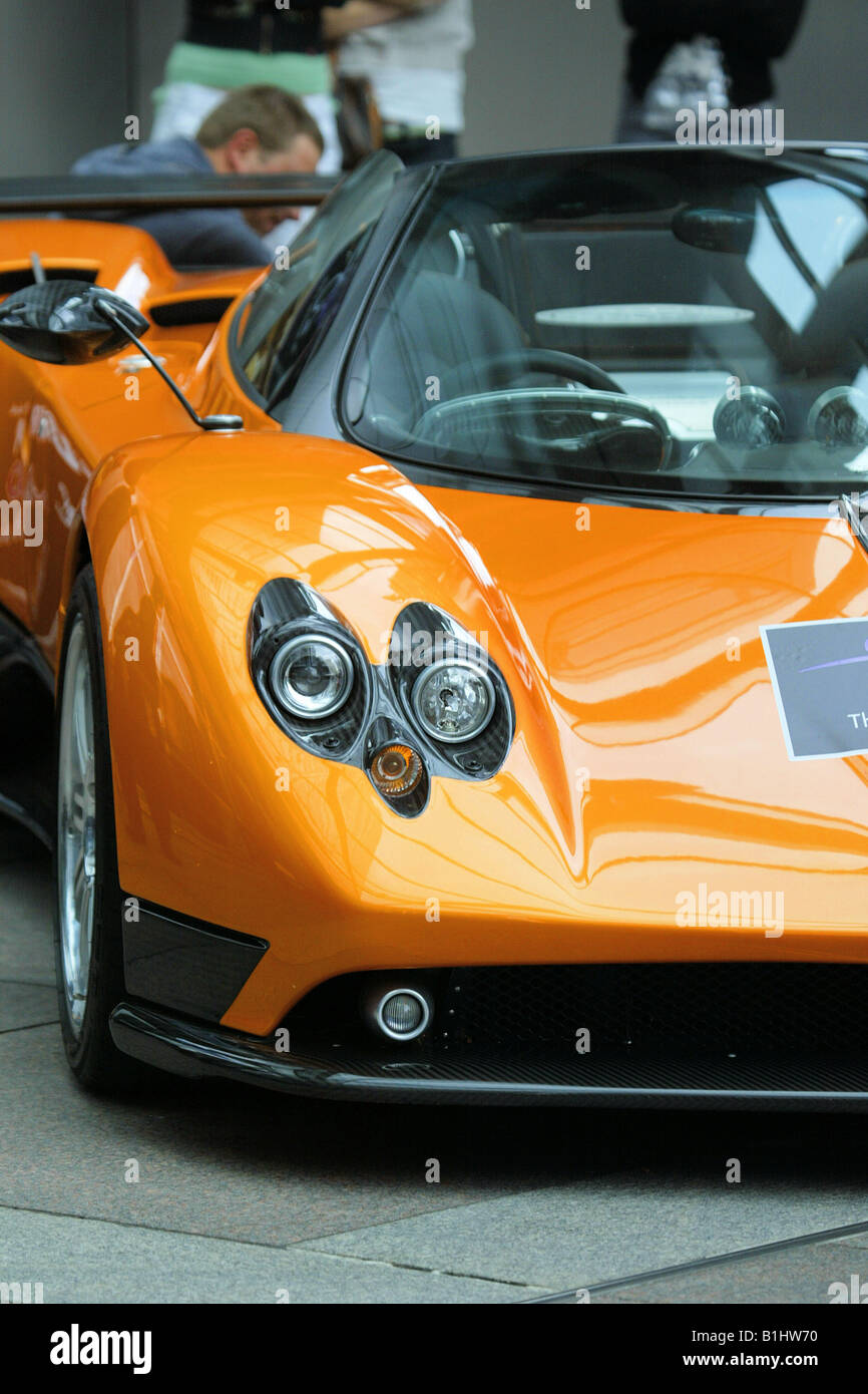 supercarszonda pagani super car head lights fast car carbon fibre twin headlights cool car orange car - Super Fast Cool Cars