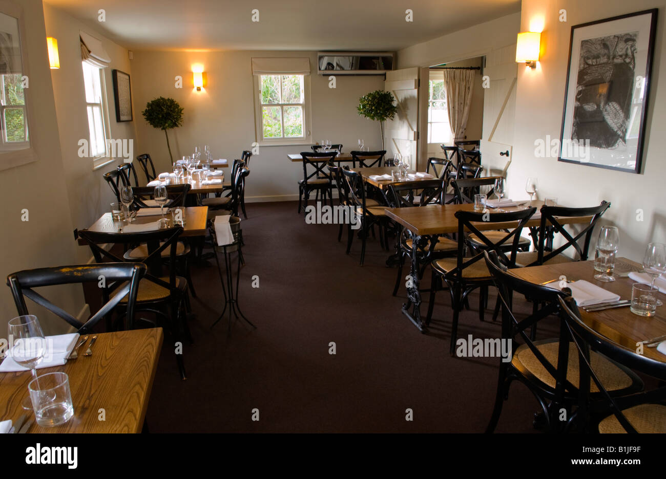 Dining Room Layout In The Walnut Tree Restaurant Llanddewi Skirrid Abergavenny Monmouthshire Wales UK