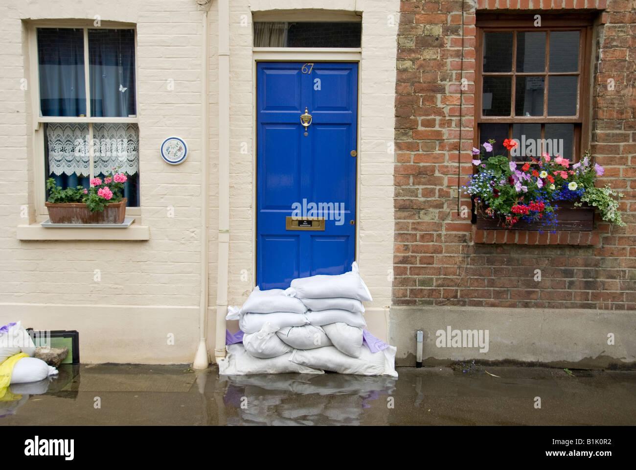 Sandbags inside or outside door