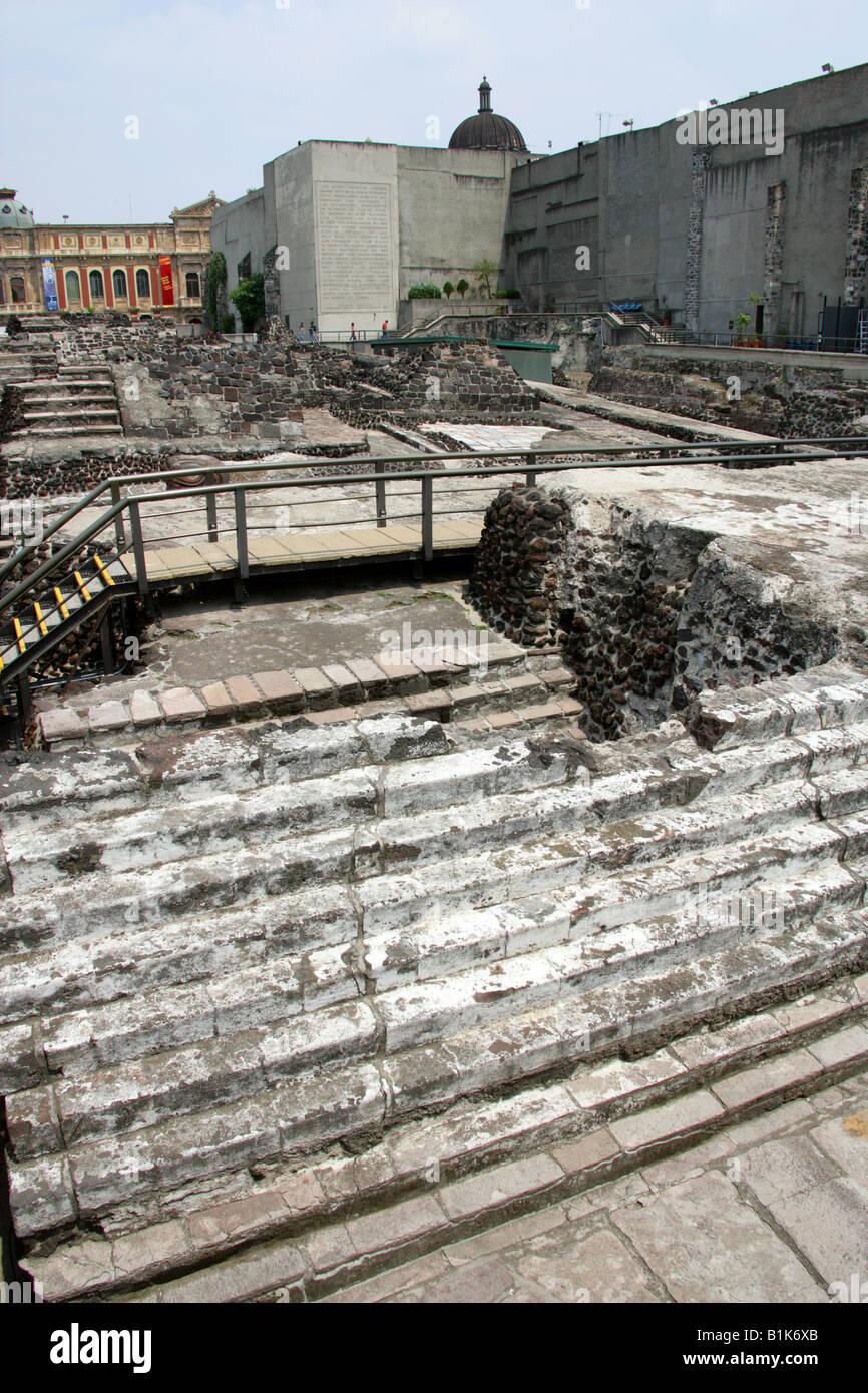 The Remains Of The Great Pyramid Templo Mayor