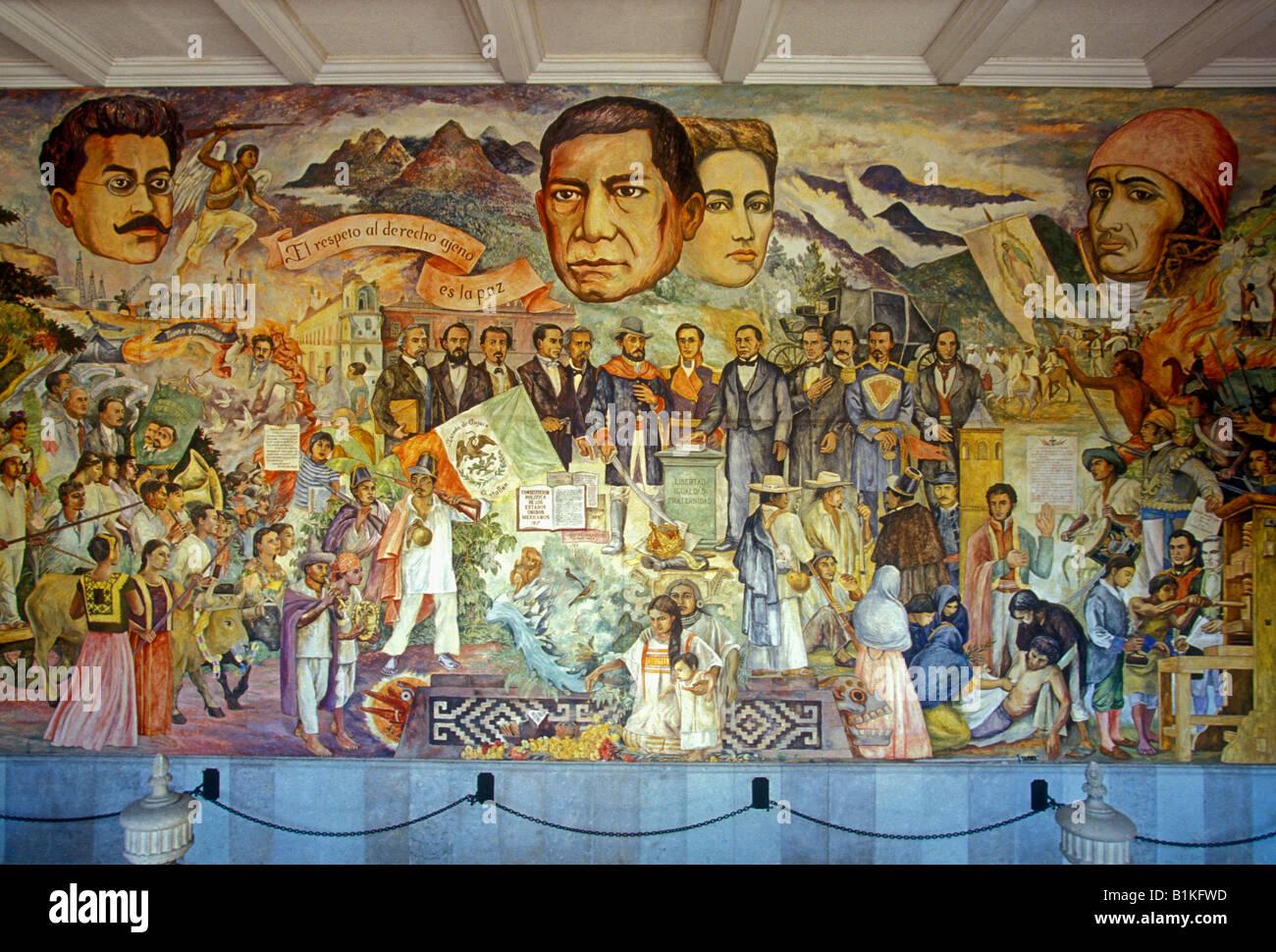 Mural epoca de reforma muralist arturo garcia bustos for Benito juarez mural