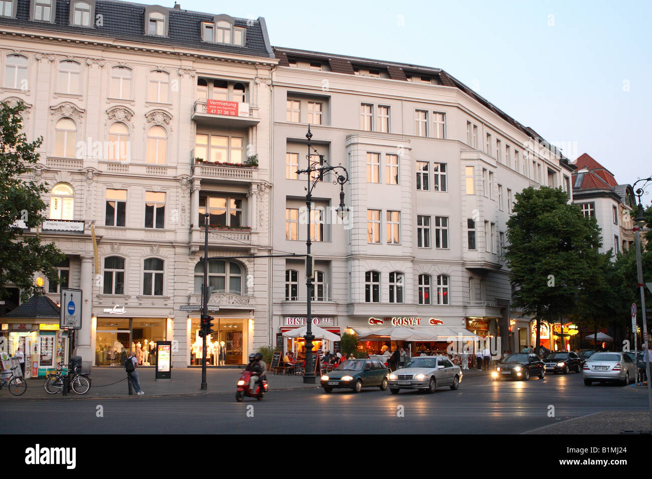 berlin germany the kurfurstendamm street at night expensive fashion stock photo royalty free. Black Bedroom Furniture Sets. Home Design Ideas