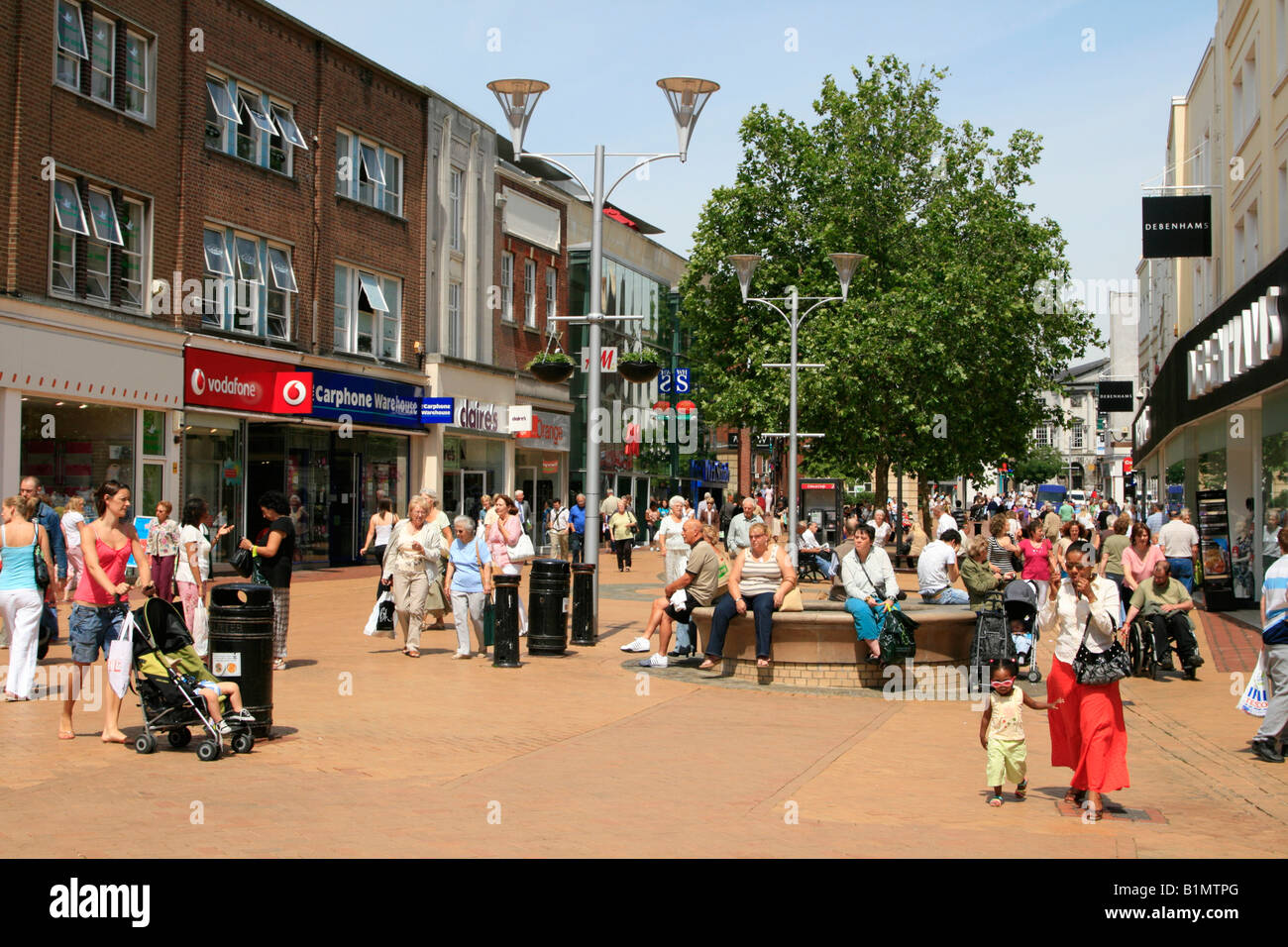High Street Pedestrian Area Chelmsford Essex Town Centre