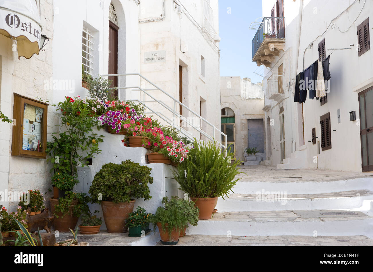 Street view of white house ostuni puglia italy stock for See images of my house