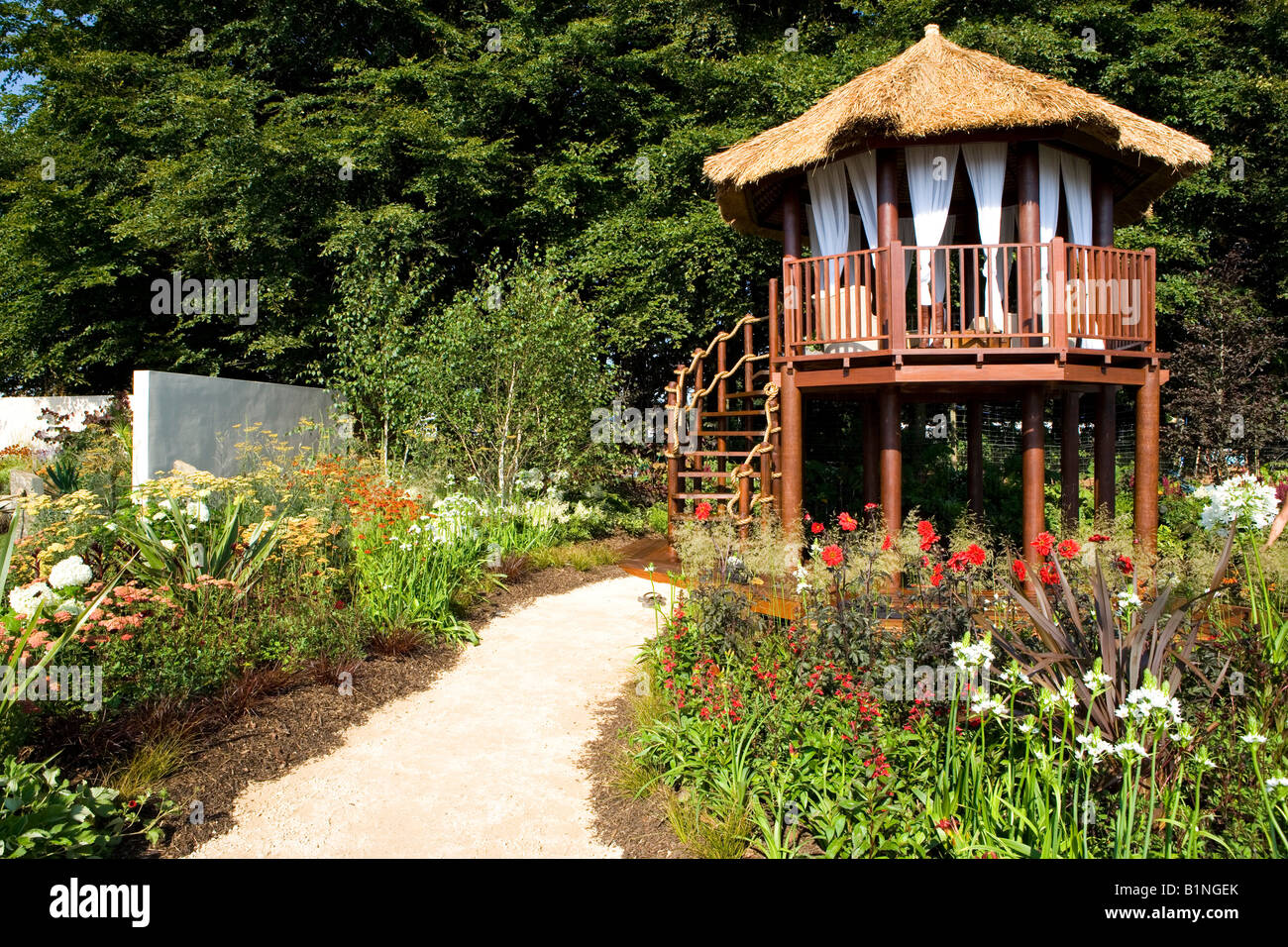Summer house raised on stilts in a large garden stock photo royalty free image 18298971 alamy - Summer projects house garden ...
