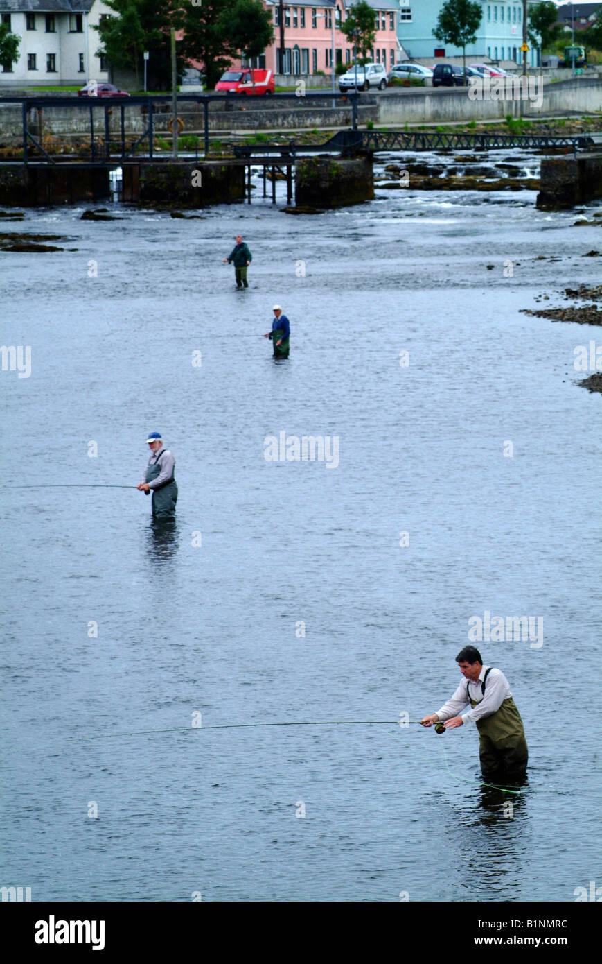 Salmon fishing river moy ballina co mayo ireland stock for Salmon fishing colorado