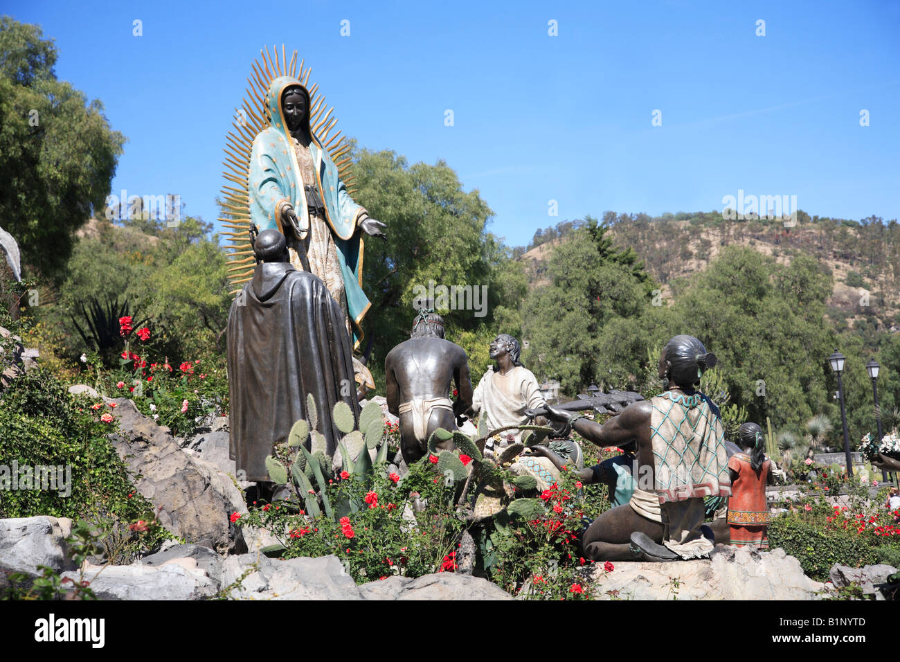 Stock Photo   Tepeyac Hill And Garden Where The Virgin Mary Is Said To Have  Appeared. Basilica Of Our Lady Of Guadalupe Mexico City