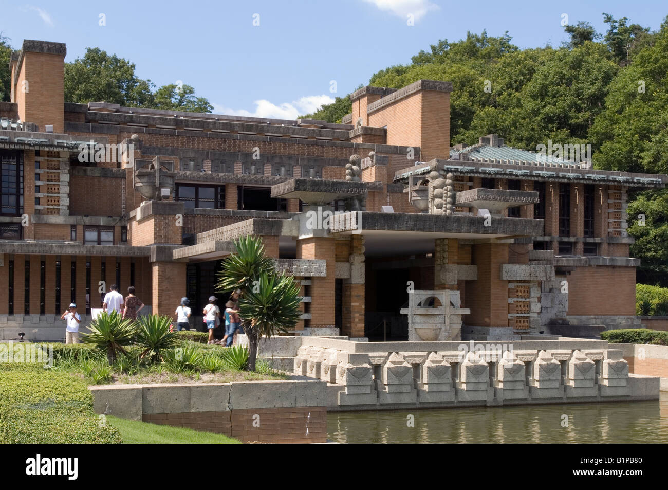 exterior of frank lloyd wright imperial hotel as reconstructed at stock photo 18316816 alamy. Black Bedroom Furniture Sets. Home Design Ideas