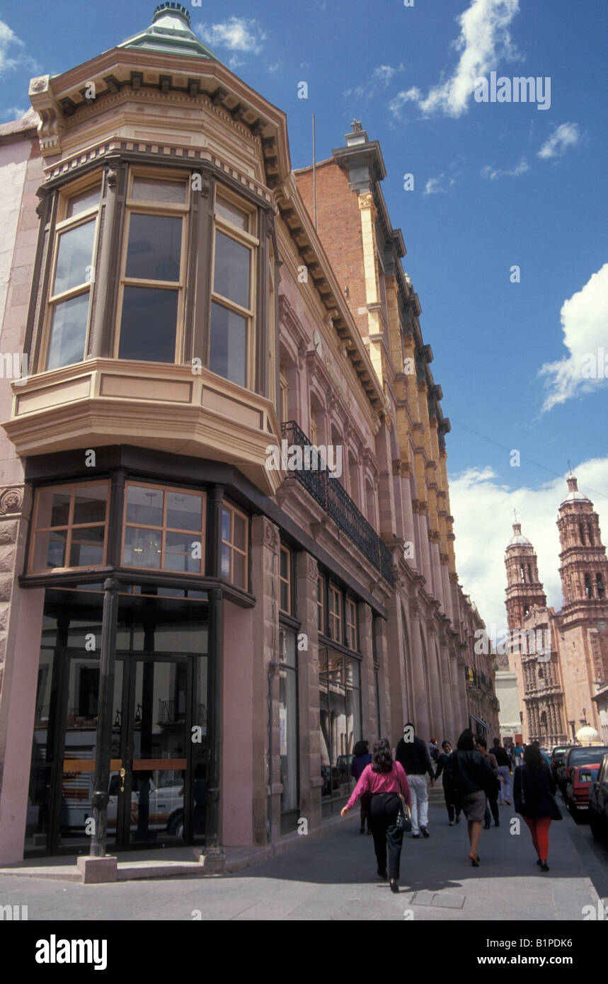 Victorian And Spanish Colonial Architecture On The Main Street In City Of Zacatecas Mexico