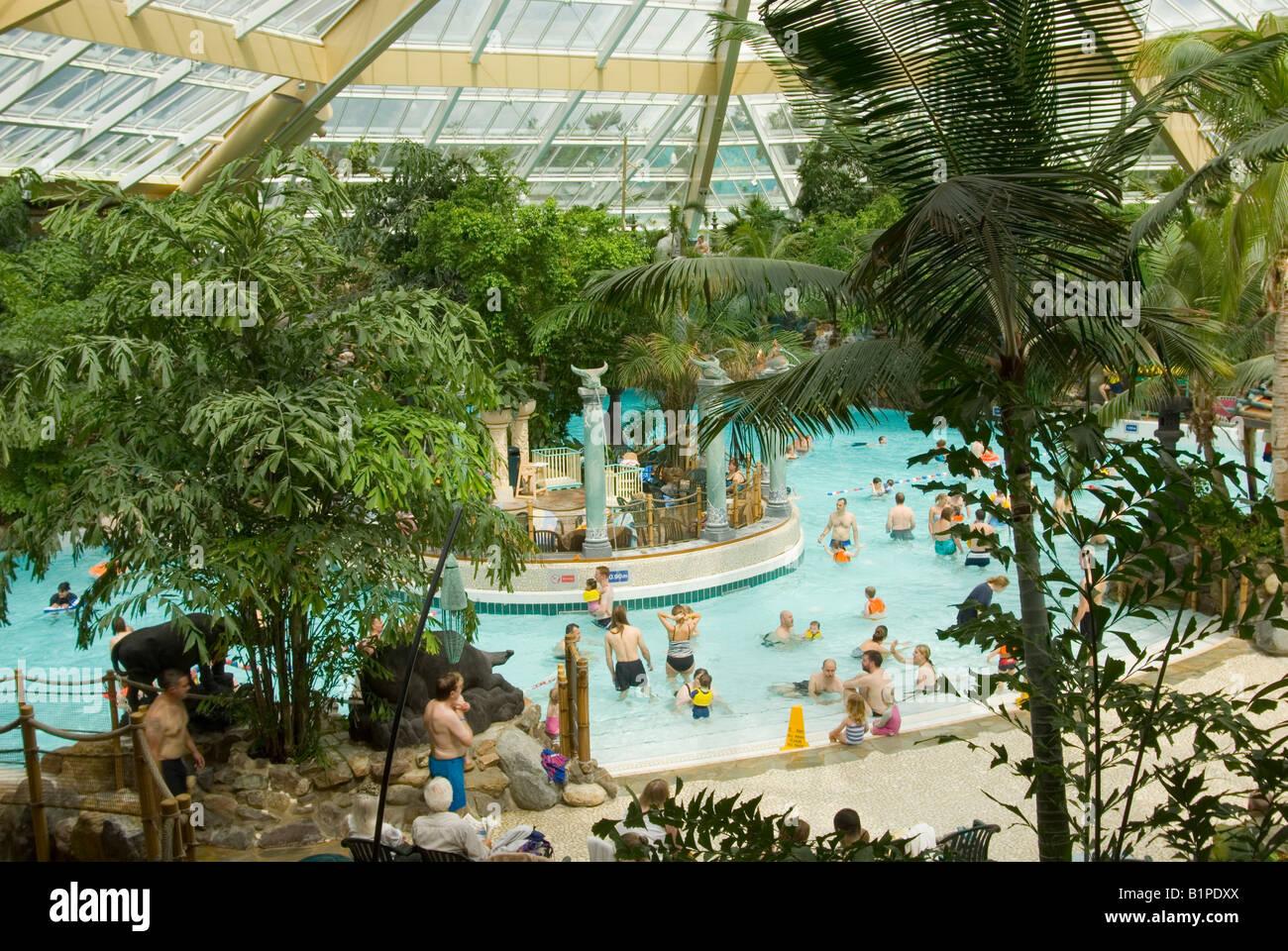 Swimming Pool At Center Parcs At Elveden Near Thetford Uk Stock Photo Royalty Free Image