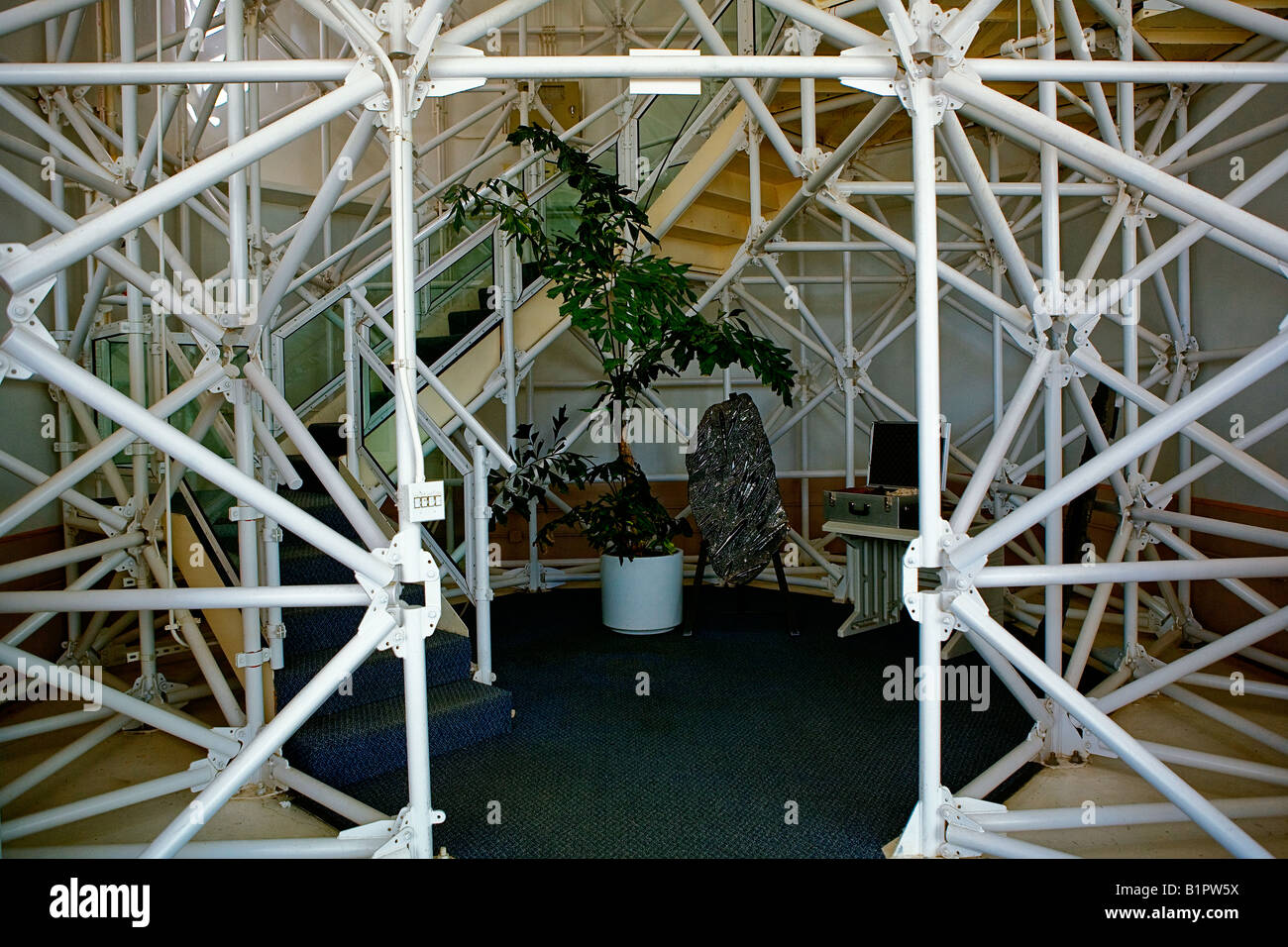 Image looking in through the interior structure of the ...