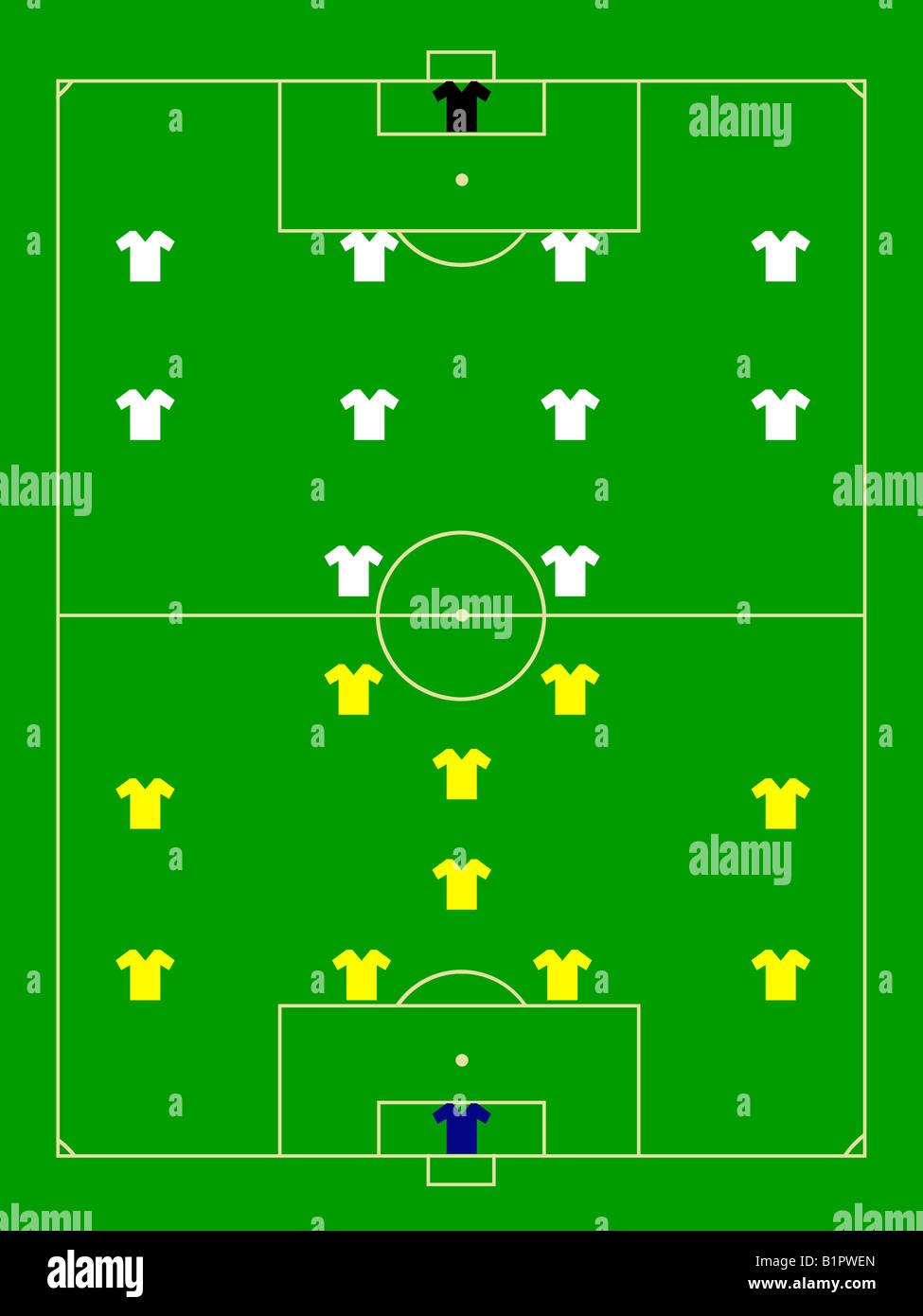 Soccer field pattern