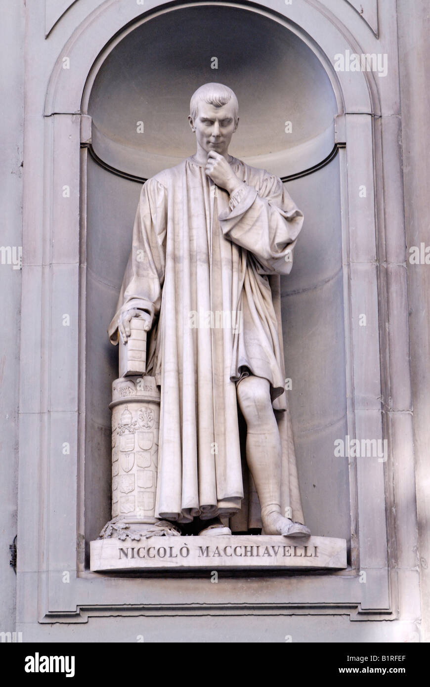niccolo machiavelli stock photos niccolo machiavelli stock statue of niccolo machiavelli renaissance at the uffizi in florence unesco world heritage