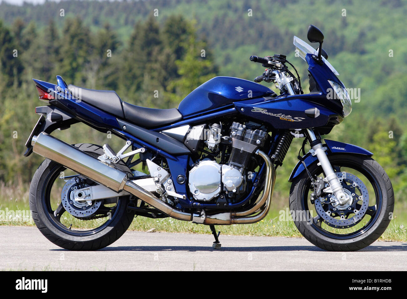 motorbike suzuki bandit 1200s stock photo royalty free. Black Bedroom Furniture Sets. Home Design Ideas